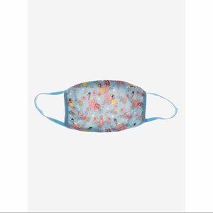 👸🏻NWT Disney Princess Blue Floral Face Mask